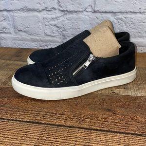 CG 2B Black Slip On Zipper Sneakers
